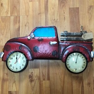 Red Truck Clock/Thermometer